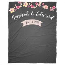 Wedding backdrop photo background chalkboard fleece blanket