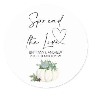 Wedding Bag Favor Spread the Love Jam Thanksgiving Classic Round Sticker
