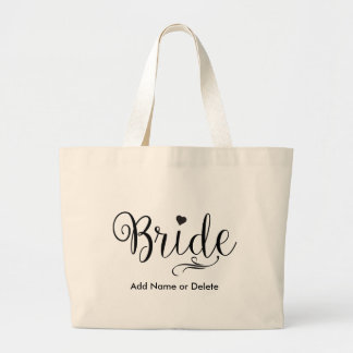 Wedding Bag for Bride Large Tote Canvas Tote Bag