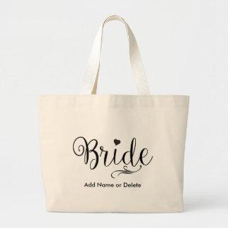 Wedding Bag for Bride Large Tote Canvas Tote Bag