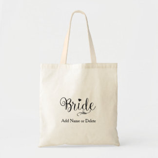 Wedding Bag for Bride Tote Budget Canvas Tote Bag