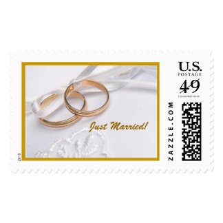 Wedding Band just married postage