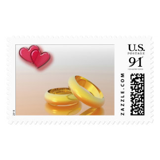 Wedding Bands and Hearts Stamps
