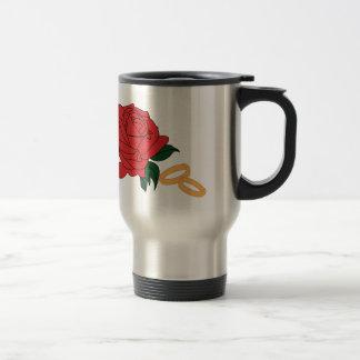 Wedding Bands & Rose Travel Mug