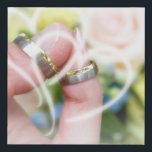 """wedding bands, roses, remembrances, special, day faux canvas print<br><div class=""""desc"""">A beautiful remembrance of your wedding. Keep this on your wall to remember. A great gift!</div>"""