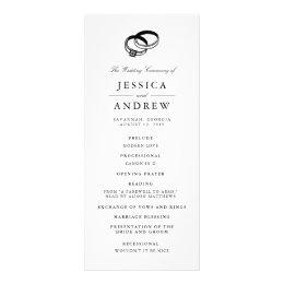 Wedding Bands | Wedding Ceremony Program