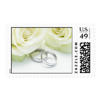 Wedding Bands & White Roses U.S. Postage Stamps