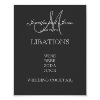 Wedding Bar Menu Poster