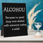 Wedding Bar Sign With Funny Quote Plaque