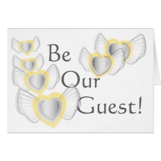 Wedding  Be Our Guest- Customi... - Customized Card