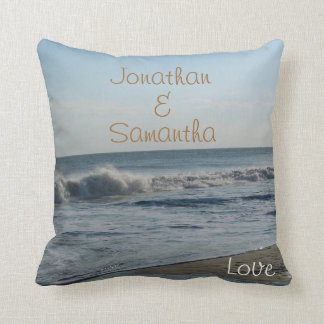 Wedding Beach Sand Ocean Love Throw Throw Pillow