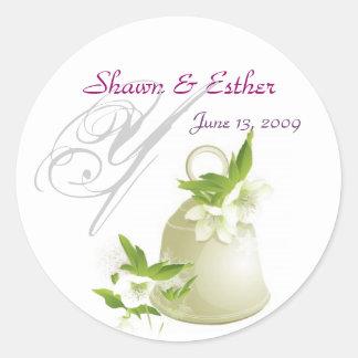 Wedding Bell Classic Round Sticker