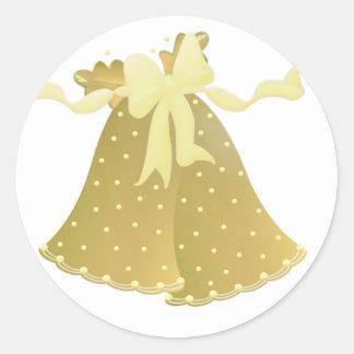 Wedding Bell Envelope Closures Classic Round Sticker