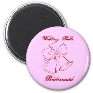 Wedding Belle Bridesmaid 2 Inch Round Magnet