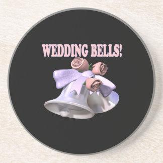 Wedding Bells 3 Drink Coasters