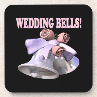 Wedding Bells 3 Beverage Coaster