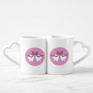 Wedding Bells Bride and Groom Matching Mugs