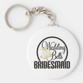 Wedding Bells Bridesmaid Keychains