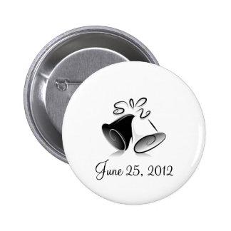 Wedding Bells Pinback Buttons
