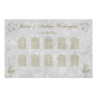 Wedding Bells & Champagne Flutes Seating Chart