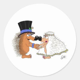 Wedding Bells. Classic Round Sticker