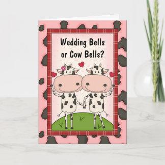 Wedding Bells - Cows Card