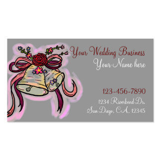 Wedding Bells customizable business cards
