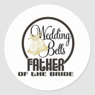 Wedding Bells Father of the Groom Classic Round Sticker