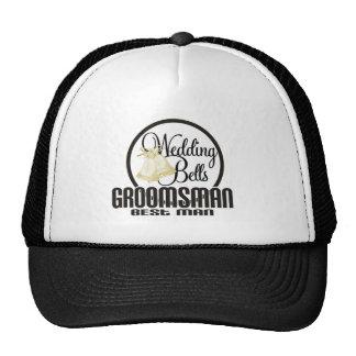 Wedding Bells Groomsman Best Man Trucker Hat