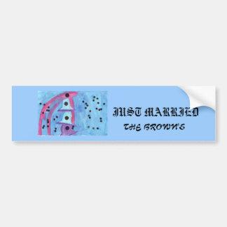 Wedding Bells, Just Married Bumpersticker Bumper Stickers