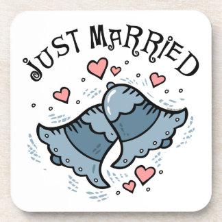 Wedding Bells Just Married Coasters