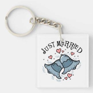 Wedding Bells Just Married Acrylic Keychains