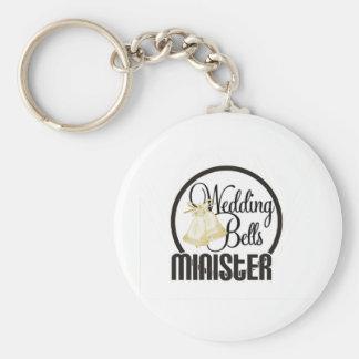Wedding Bells Minister Keychain