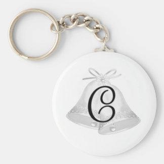 Wedding Bells Monogrammed Key Chain