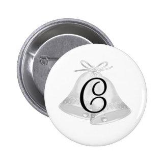 Wedding Bells Monogrammed Pins