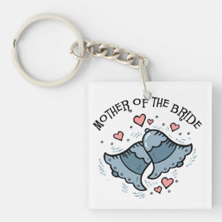 Wedding Bells Mother of the Bride Acrylic Key Chains
