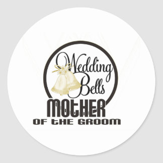 Wedding Bells Mother of the Groom Classic Round Sticker