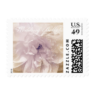 Wedding Bells Pink Tint with Sparkles Rose Postage