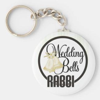 Wedding Bells Rabbi Key Chains