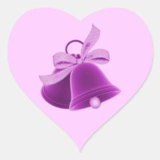 """""""Wedding Bells"""" - Rich Purple [a] Heart Sticker"""