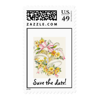 Wedding-Bells, Save the date! Stamps