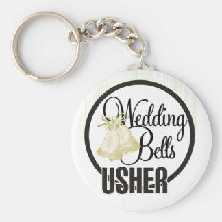 Wedding Bells Usher Keychain