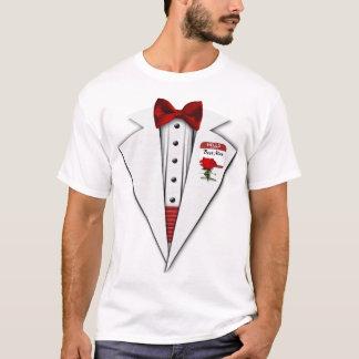 Wedding Best Man White Tuxedo Formal Fun T-Shirt