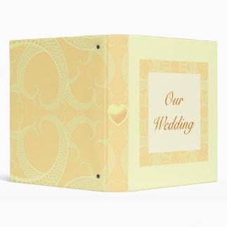 Wedding Binder - Cream Ivory Gold Pattern
