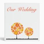 Wedding Binder - Flower Wishing Tree Orange