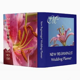 WEDDING BINDERS Pink Lilies New Beginnings! Brides