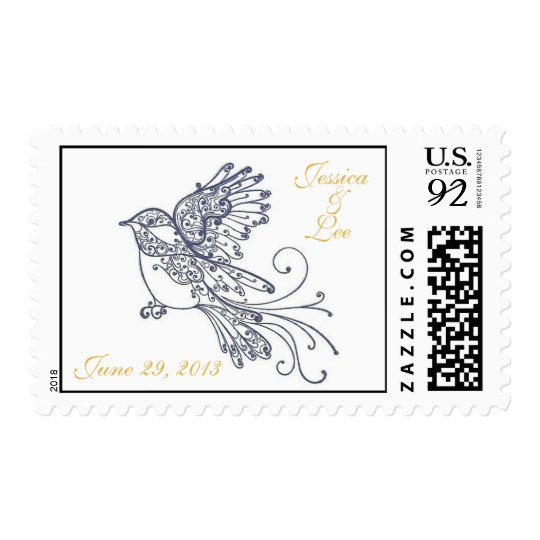 Wedding Bird for Jessica and Lee Postage
