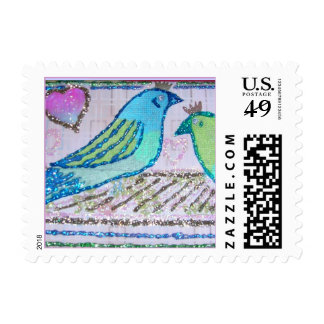 Wedding Birds of a Feather Postage