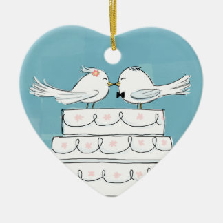 Wedding Birds Christmas Ornaments