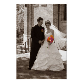 wedding black and white poster